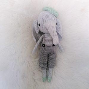 Horgolt elefánt